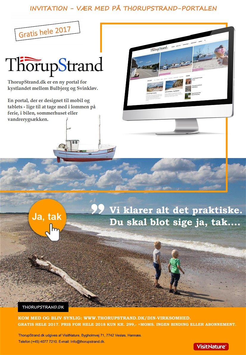 Vær synlig på ThorupStrand.dk